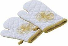 Aubry gaspard - gant de cuisine en coton citron