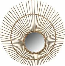 Aubry Gaspard - Maxi miroir Paon en rotin