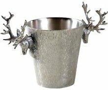 Aubry gaspard - seau à champagne cerf en aluminium