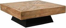 Aubry Gaspard - Table basse carrée en pin recyclé