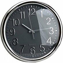 AUCUNE - Horloge silencieuse grise 35cm