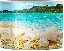 Aulaygo Abat-jour imprimé plage mer abat-jour