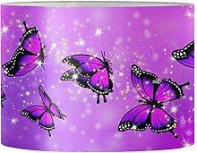 Aulaygo Abat-jour rond violet pour lampe de table,