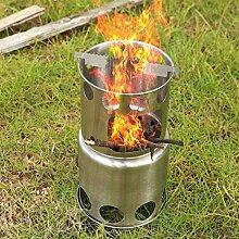 AULLY PARK Réchaud de camping en acier inoxydable