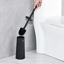 Auralum Brosse de Toilette Noir en 201 Acier