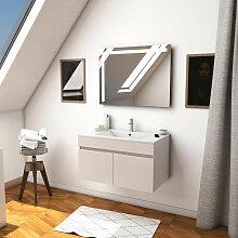 Aurlane - Ensemble Meuble de salle de bain blanc