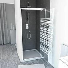 Aurlane - PACK Paroi porte de douche 80x185 A