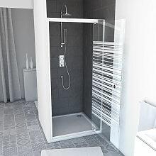 Aurlane - PACK Paroi porte de douche 90x185 A