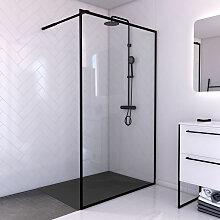 Aurlane - Paroi de douche 120x200cm + receveur a