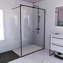Aurlane - Paroi de douche 140x200cm + receveur a