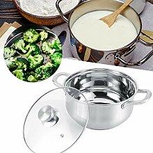 Ausla avec Couvercle, Marmite INOX 5L pour Soupe