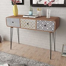 Ausla Console d'entrée avec 3 tiroirs, table