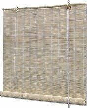 Ausla Rideau enroulable en bambou 80 x 220 cm,