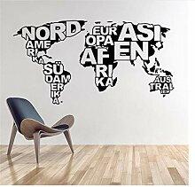 Autocollant Mural Art Design Carte Du Monde Vinyle
