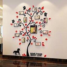 Autocollant mural avec arbre miroir, décoration