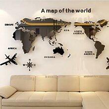 Autocollant Mural carte du monde en acrylique
