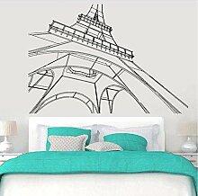 Autocollant mural de bureau de la tour de Paris