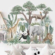 Autocollant mural dessin animé forêt tropicale