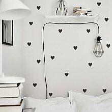 Autocollant mural en forme de cœur pour chambre