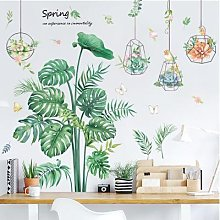 Autocollant Mural en forme de tortue, plante