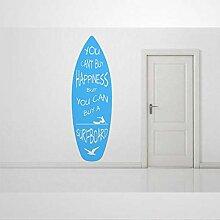 Autocollant mural en vinyle avec inscription «