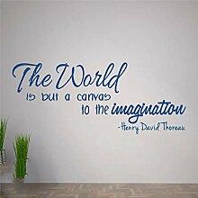 Autocollant mural en vinyle - Henry David Thoreau