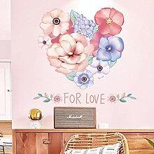 Autocollant mural fleur fond décoratif papier