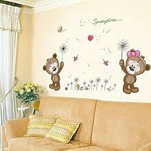 Autocollant Mural ours brun pour chambre