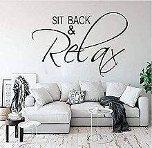 Autocollant mural Sofa Chambre à coucher Relax