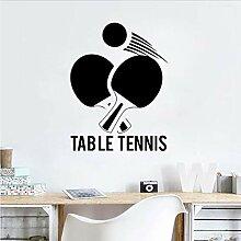 Autocollant Mural Tennis De Table Pvc Ping Pong