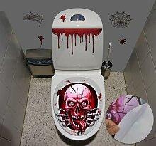 Autocollant pour siège de toilette Halloween,