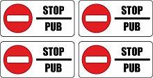 Autocollant Sticker Boite aux a lettre Pas de Pub
