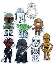 Autocollants de dessin animé Star Wars   Nouveaux