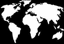 autocollants de voiture Carte du monde