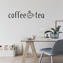 Autocollants muraux café et thé, décoration de