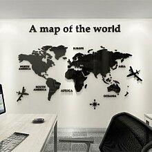 Autocollants muraux de la carte du monde de