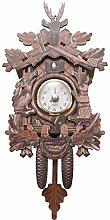 Autumne Horloge Murale Oiseau DéCoratif à la