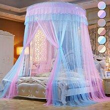 Auvent de lit Double couleurs, filet moustiquaire