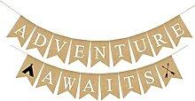 Aventure attend bannière fête banderoles