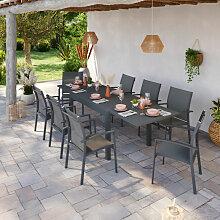 Avril Paris - Table de jardin extensible aluminium