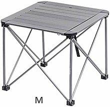 AWCPP Table Basse Aluminium Pliable Plateau