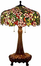 AWCVB Tiffany Flower Table Lampe Painting en Verre