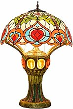 AWCVB Tiffany Table Lampe Tiffany Pêche Glass
