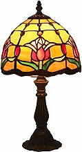 AWCVB Tiffany Table Lampe Vintage Hirtenart Lampes