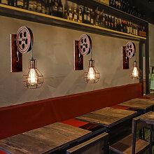 Axhup - Lot de 2 Fer LED Applique Murale Interieur