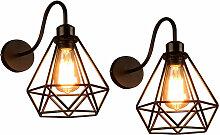 Axhup - Lot de 2 Lampe Murale Vintage Industrielle