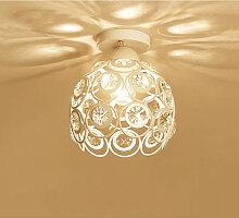 Axhup - Lustre de Plafond Cristal en Métal