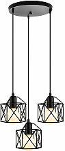 Axhup - Suspension Industrielle Cage Carré, E27