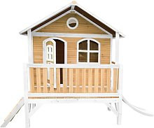 AXI Stef Maison Enfant avec Toboggan blanc | Aire