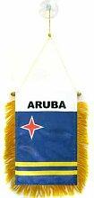 AZ FLAG Fanion Aruba 15x10cm - Mini Drapeau